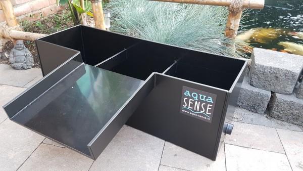 """Aqua-Sense Pflanzenfilter """"Start"""" 75x25x25 HDPE schwarz"""