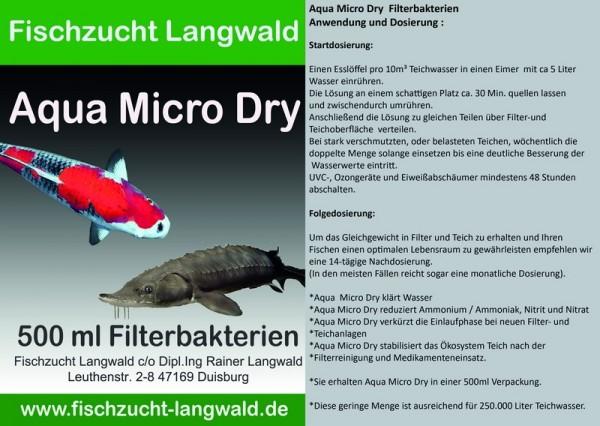 Aqua Micro Dry - Filterbakterien 500 ml